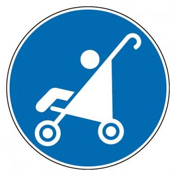 Gebotsschild Kinderwagen erlaubt