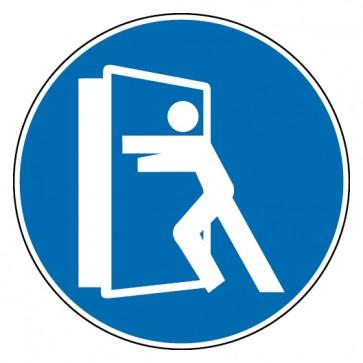 Gebotsschild Tür stets schließen
