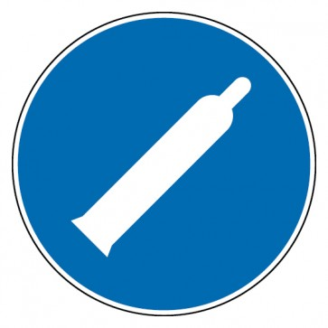 Aufkleber Druckgasflasche