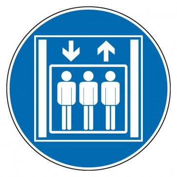 Gebotsschild Personenaufzug