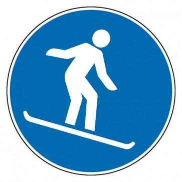 Aufkleber Snowboardfahren erlaubt