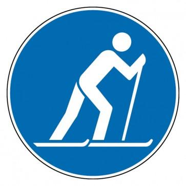 Gebotsschild Ski laufen erlaubt