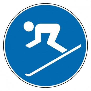 Aufkleber Ski fahren erlaubt