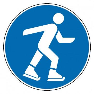 Gebotsschild Eislaufen erlaubt
