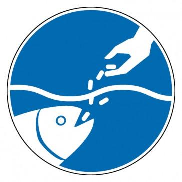 Aufkleber Fische füttern erlaubt
