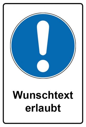 Kombi Schild Allgemeines Gebotszeichen | Gebotszeichen