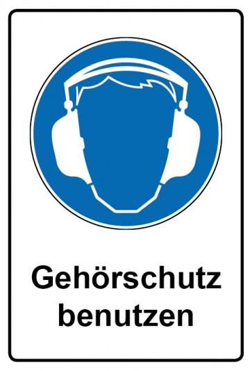 Kombi Schild Gehörschutz benutzen   Gebotszeichen
