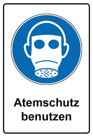 Kombi Aufkleber Atemschutz benutzen | Gebotszeichen