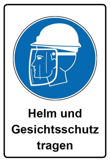 Kombi Aufkleber Helm und Gesichtsschutz tragen