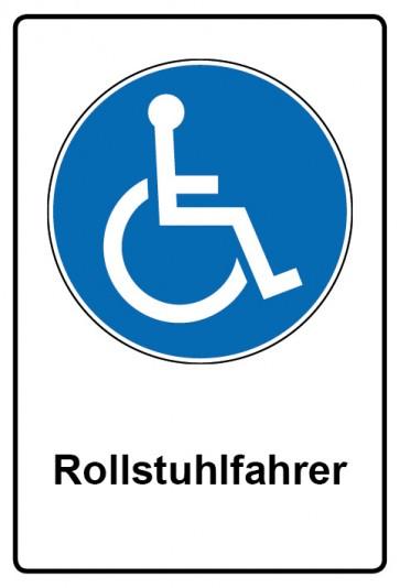 Kombi Aufkleber Rollstuhlfahrer | Gebotszeichen