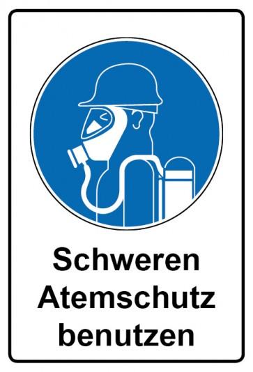 Kombi Aufkleber Schweren Atemschutz benutzen