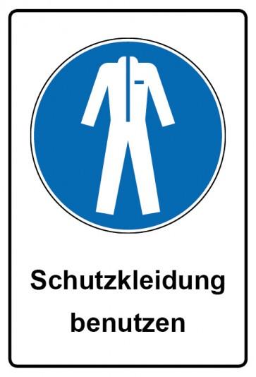 Kombi Aufkleber Schutzkleidung benutzen   Gebotszeichen