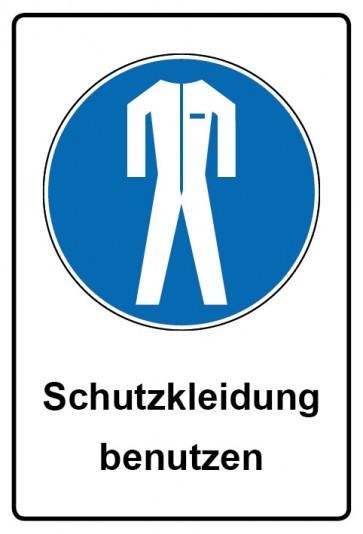 Kombi Aufkleber Schutzkleidung benutzen | Gebotszeichen