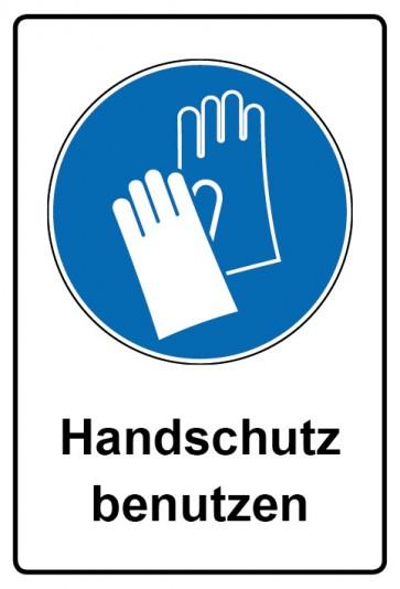 Kombi Aufkleber Handschutz benutzen | Gebotszeichen