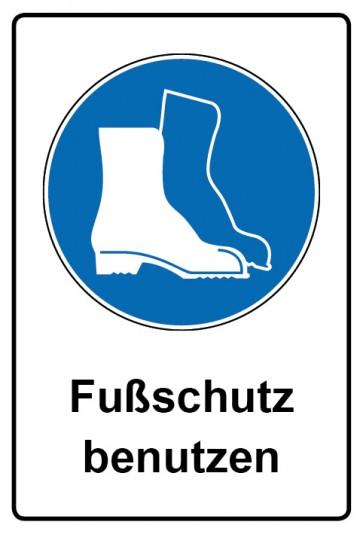 Kombi Aufkleber Fußschutz benutzen | Gebotszeichen