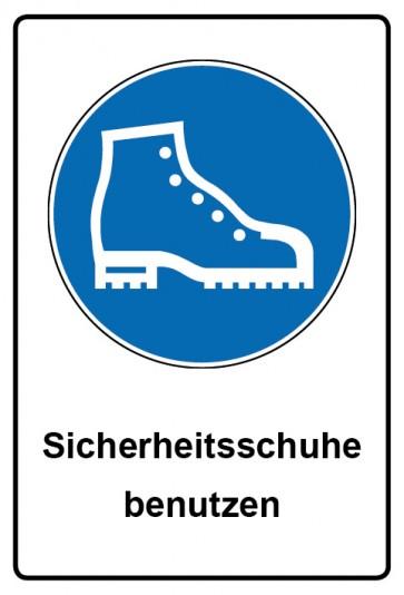 Kombi Aufkleber Sicherheitsschuhe benutzen | Gebotszeichen