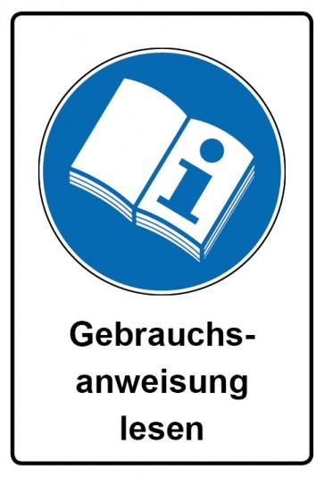 Kombi Schild Gebrauchsanweisung lesen | Gebotszeichen