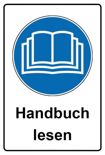 Kombi Aufkleber Handbuch lesen | Gebotszeichen