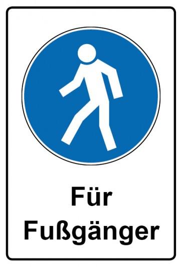 Kombi Aufkleber Für Fußgänger   Gebotszeichen