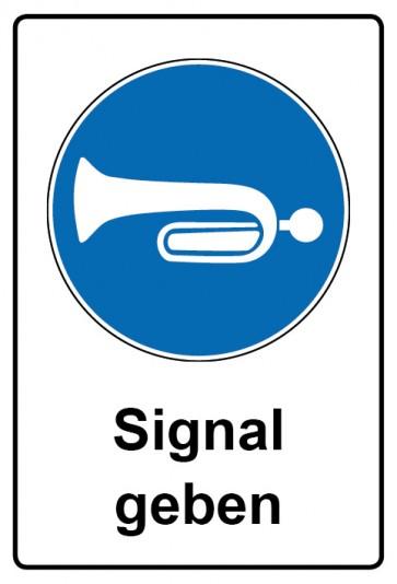 Kombi Aufkleber Signal geben | Gebotszeichen