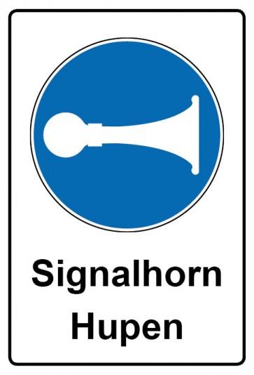 Kombi Aufkleber Signalhorn Hupen