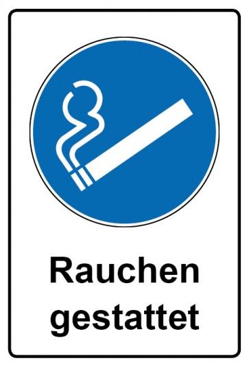 Kombi Aufkleber Rauchen gestattet | Gebotszeichen