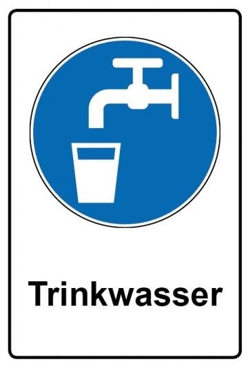 Kombi Aufkleber Trinkwasser | Gebotszeichen