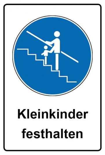 Kombi Schild Kleinkinder festhalten   Gebotszeichen