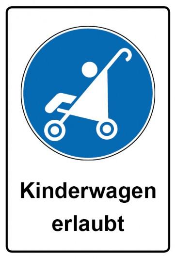 Kombi Aufkleber Kinderwagen erlaubt | Gebotszeichen