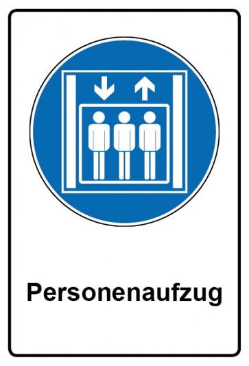 Kombi Aufkleber Personenaufzug