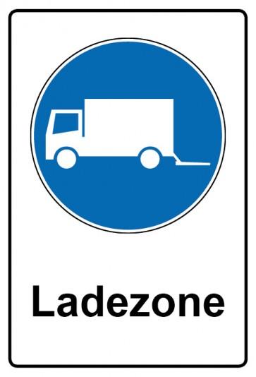 Kombi Aufkleber Ladezone | Gebotszeichen