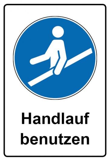 Kombi Aufkleber Handlauf benutzen | Gebotszeichen