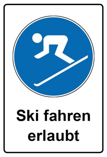Kombi Aufkleber Ski fahren erlaubt
