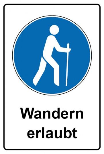 Kombi Aufkleber Wandern erlaubt | Gebotszeichen