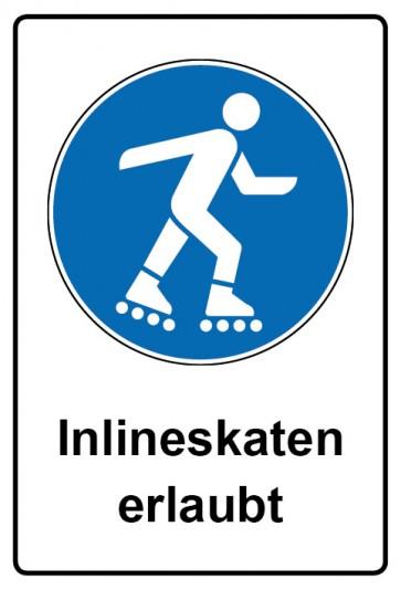 Kombi Aufkleber Inlineskaten erlaubt | Gebotszeichen