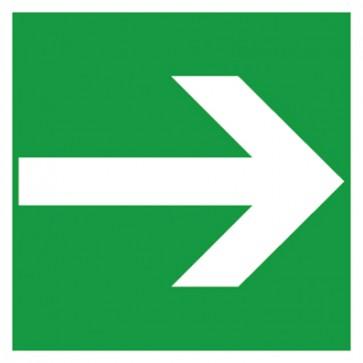 Aufkleber Rettungszeichen Fluchtweg, Pfeil rechts