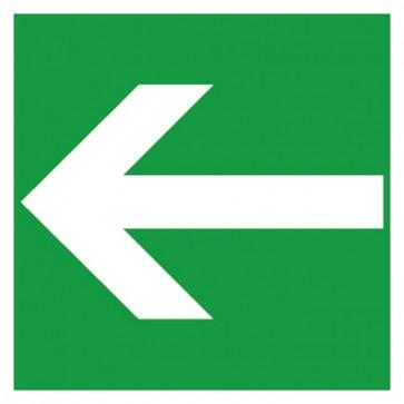 Aufkleber Rettungszeichen Fluchtweg, Pfeil links
