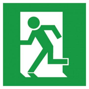 Aufkleber Rettungszeichen Fluchtweg Notausgang Fluchtrichtung links