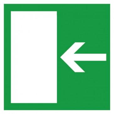 Aufkleber Rettungsweg links
