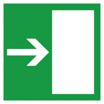 Aufkleber Rettungsweg rechts