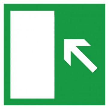 Aufkleber Rettungszeichen Rettungsweg links aufwärts