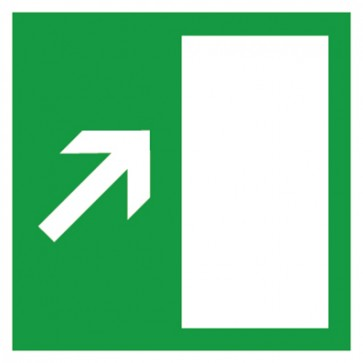 Aufkleber Rettungszeichen Rettungsweg rechts aufwärts