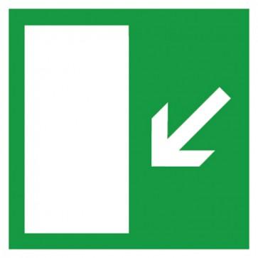 Aufkleber Rettungszeichen Rettungsweg links abwärts