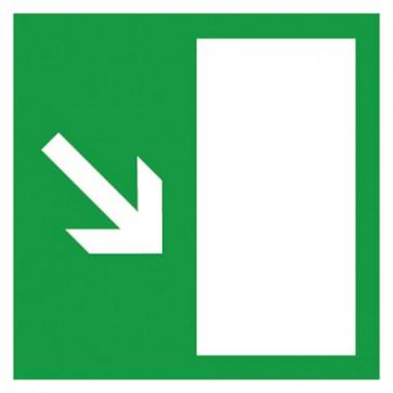 Aufkleber Rettungszeichen Rettungsweg rechts abwärts