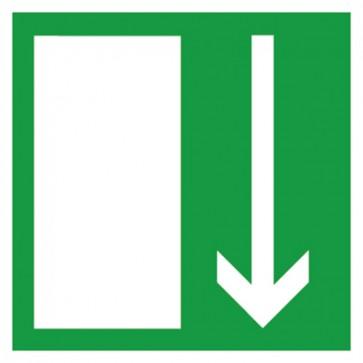 Aufkleber Rettungszeichen Rettungsweg abwärts