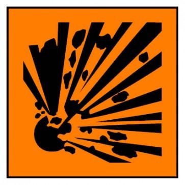 Aufkleber Gefahrstoffzeichen explosionsgefährlich Hazard_E