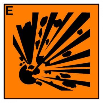 Gefahrstoffaufkleber explosionsgefährlich Hazard_E