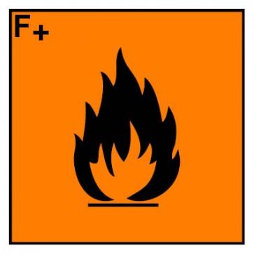 Gefahrstoffaufkleber hochentzündlich Hazard_F