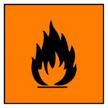 Aufkleber Gefahrstoffzeichen leichtentzündlich Hazard_F