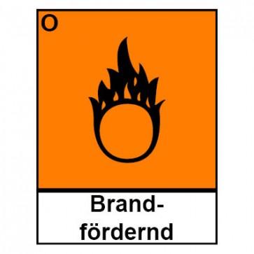 Klebeschild Gefahrstoffzeichen brandfördernd Hazard_O